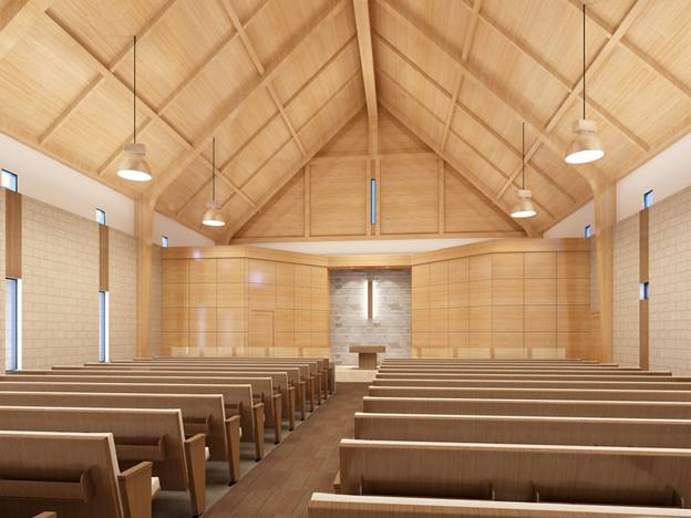 Rendering of New Sanctuary Prepared by the Architect